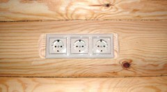 concealed wiring in a wooden house