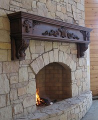 construction fireplace