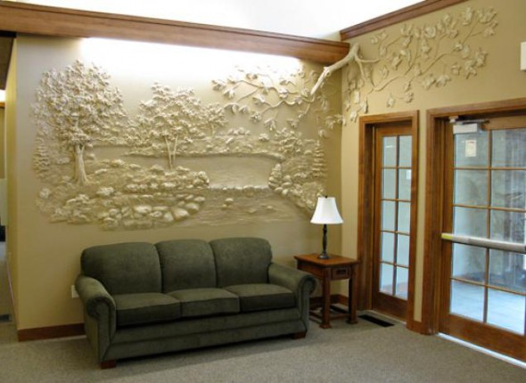 decorate the walls with plaster