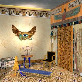 Египетский стиль создания интерьера