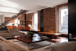 furnished loft-style