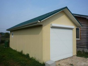 garage of sandwich panels