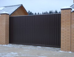gate of corrugated