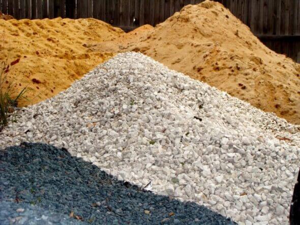 gravel or sand