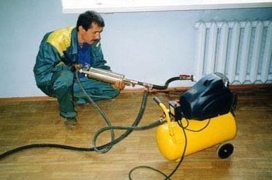 hydropneumatic washing