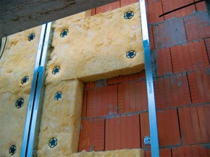 insulate the house facade minvatoy