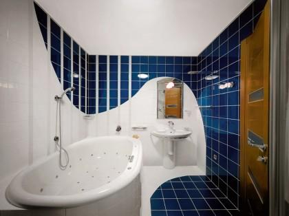 interior in the bathroom