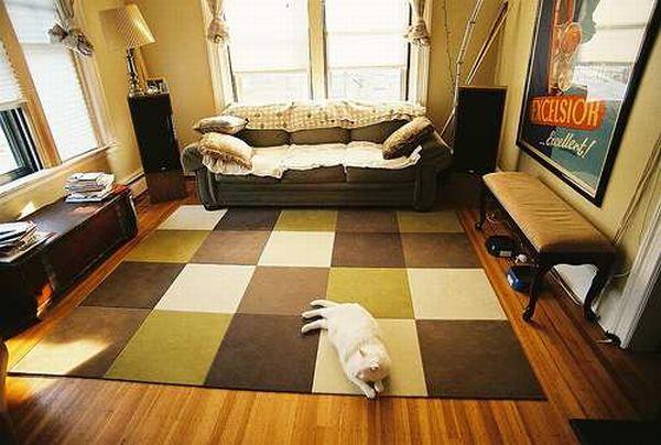 Ковры в интерьере квартиры