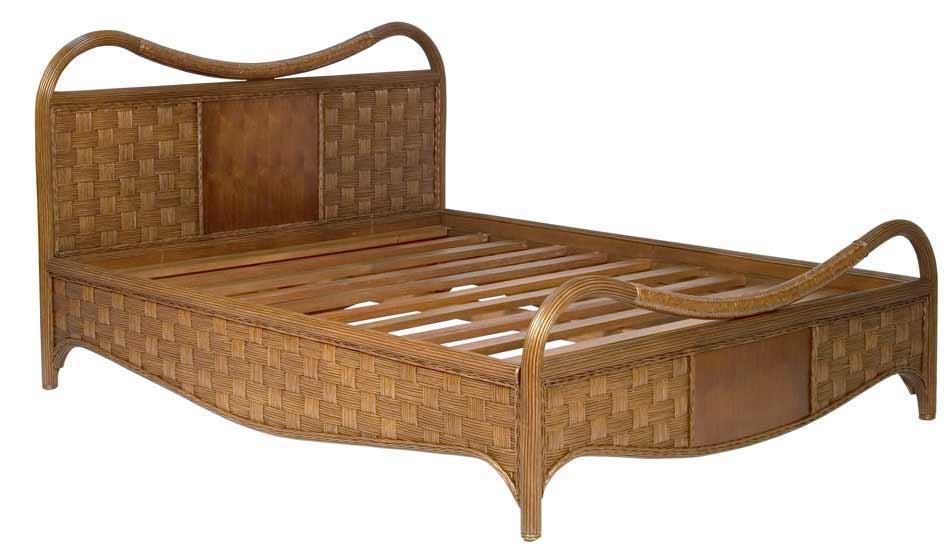 плетеная кровать