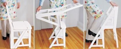 Деревянный стул стремянка