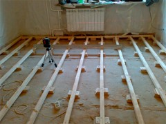 lay on the floor joists