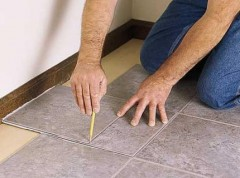 lay on the floor tile PVC