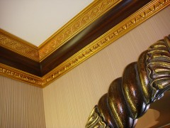 paint the ceiling moldings