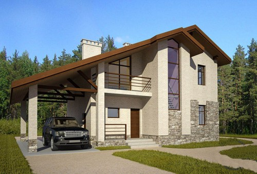 Одноэтажные дома из пеноблоков