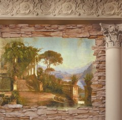 production of frescoes