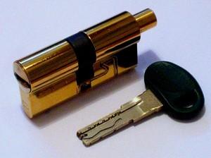 replacing the lock cylinder in the iron door