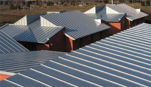 roof of zinc-titanium