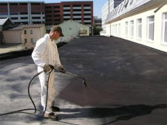 soft flat roof with a liquid rubber