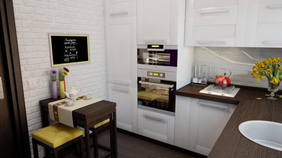 space in a small kitchen