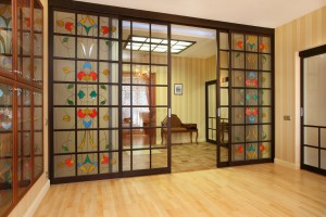 stained-glass partitions