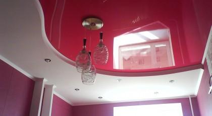 wash glossy stretch ceilings