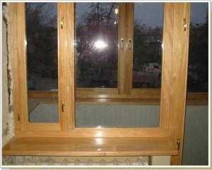 Пластиковые окна под видом деревянных