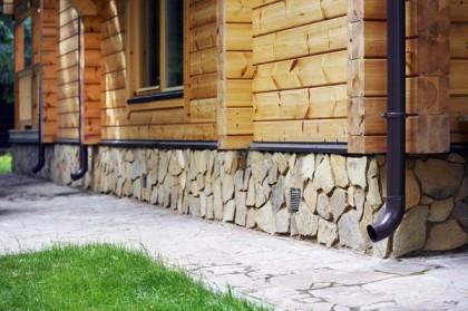 Проект деревянного дома с цоколем