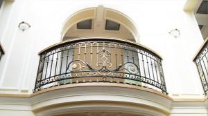 wrought iron railing on the balcony